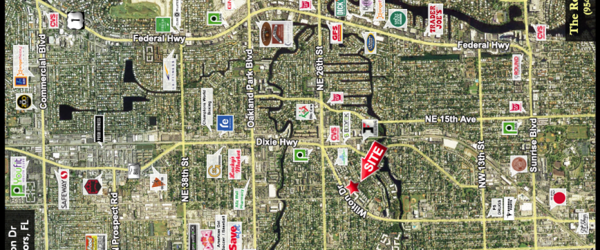 Listing preview – Shoppes of Wilton Manors – The Rotella Group on city street map of wilton, city of wilton manors employment, wilton manors florida map,